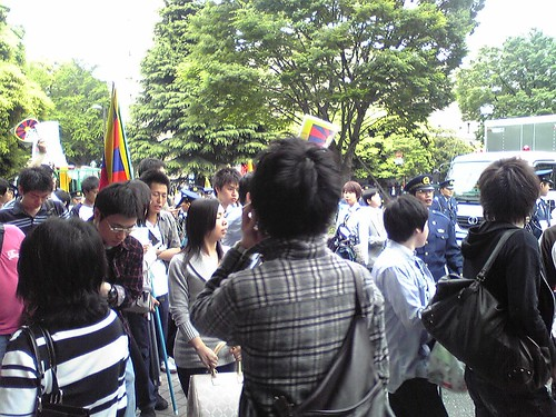 Students' protests during Hu Jintao's Waseda University visit 7