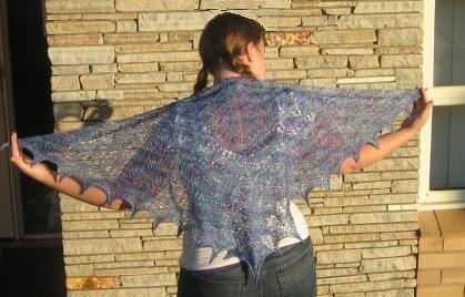 wisteria shawl model
