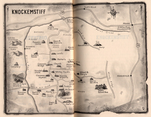 map from donald ray pollock's KOCKEMSTILL