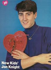 Jonathan Knight (xnkotbx) Tags: red sexy male smile smiling kid jon heart jonathan earring shy hazeleyes knight 1989 16 1990s valentinesday nkotb soldout newkidsontheblock newkids studioportraits armscrossed jonknight