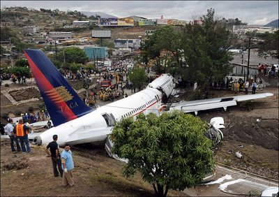 taca crash Tegucigalpa