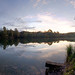 Crystal-clear lake in the morning (HDR-Pano)