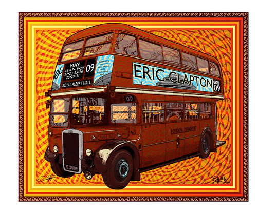 Eric Clapton Royal Albert Hall 2009 Concert Poster