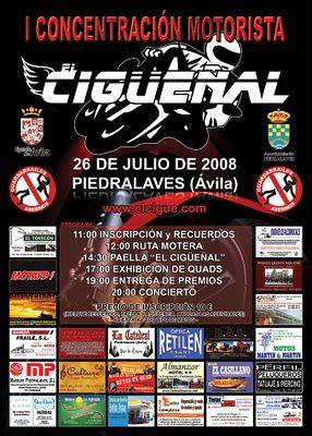 """I concentración motorista """"El Cigüeñal"""" 26 Julio 2008 – Piedralaves Ávila"""