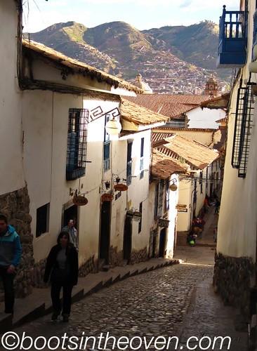 Steep roads of Cusco