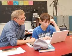 Lab intervention period at Searsport District High School.