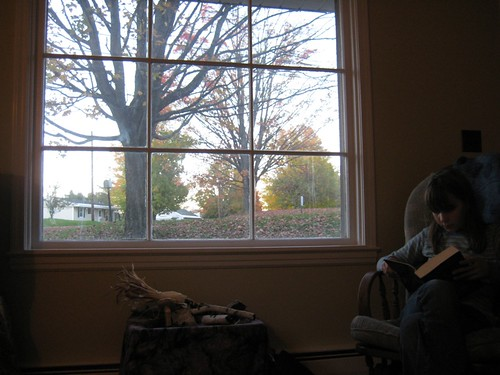 Reading in the waning afternoon light