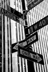 One way, lotta ways (skelter) Tags: new york city bw usa white signs fashion st back nikon manhattan bn 40 avenue bianco nero d80 nikonstunninggallery fiveflickrfavs