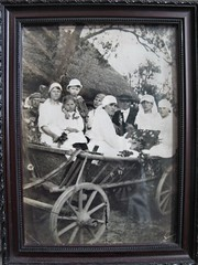 wedding photo: my grandparents (mereshadow) Tags: wedding chicago wagon illinois village russia grandparents belarus ancestors maternal storlolemya