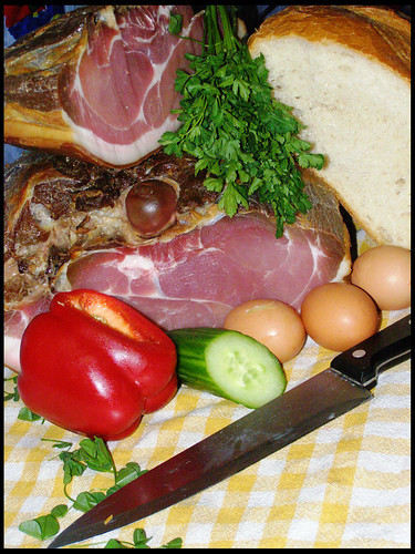 Hungarian home-made ham.