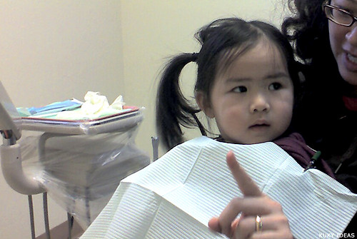 First time in the dentist chair
