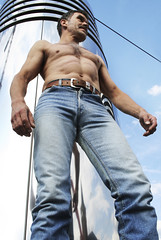 picman_himself_6964 (picman1108) Tags: sky man belt hunk crotch jeans bulge