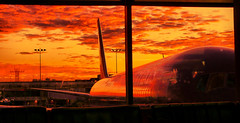 At LAX.... (Menetnasht) Tags: morning sunset orange plane sunrise lumix dawn la early los airport waiting angeles aircraft united lounge flight panasonic area boeing lax thumbsup airways airlines departure hdr 747 ua fz50 photomatix tonemapped flickrchallengewinner theunforgettablepictures photofaceoffwinner platinumheartaward thechallengefactory
