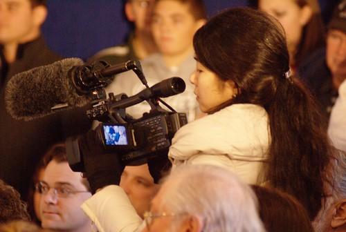 Media filming McCain