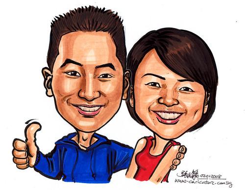 Caricatures Dickson & Felicia  A4