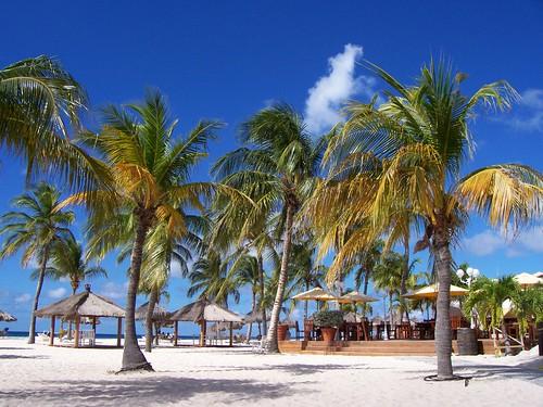 Instalaciones del Resort Bucuti Beach en la playa