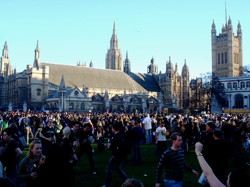 Crowd at Westminster