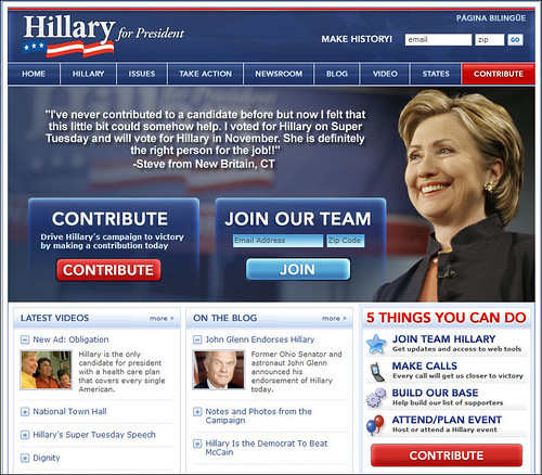 Hillary Clinton for President - Main Page