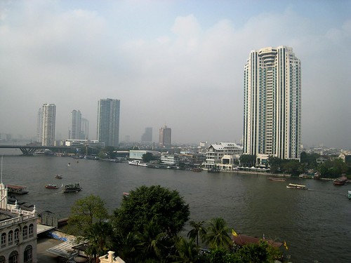 The bustling Chao Phraya river in Bangkok