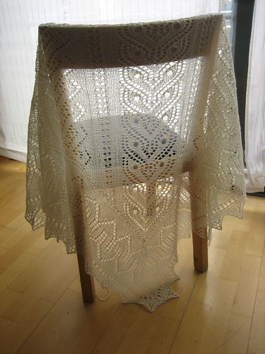 Tiger Eye Lace Panel Shawl