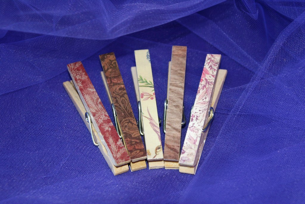 Decorative Clothespins for Children's Play or Home Organization