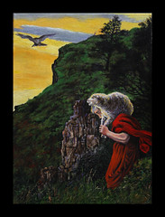 """The Lost Sheep"" ; oil painting by M.Beek after Millais (collection of St Luke's Church Oxford) (Martin Beek) Tags: red hot colour art scotland perth oil catalogue millais afterglow oldwork landscapepainting scottishlandscape redshades thecolourred mybackpages kinnoullhill martinbeek victorianpainting allthingsred redtints aftermillais perthhire millaislandscapes scottishpainting thelostsheep parablesofourlord millaisscottishlandscapes millaisinscotland latemillais millaislandscapebackgrounds martinbeek paintingsdrawingsandartworks art19802008 alifeinart victorianlandscapepainting tutorialfilesonmillaislandscapes martinbeeksworks art19802010"