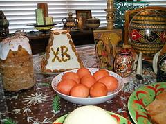 Cheese Paskha, Kulich (Babka) and Eggs (jrozwado) Tags: food usa me easter bread florida egg fortlauderdale tradition russian ukrainian orthodox traditionalculture ethnography paskha pysanky кулич пасха писанки