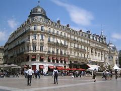Montpellier: buildings off La Place de la Comédie