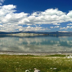 Reflecting on Mono Lake from Navy Beach