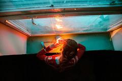 Delicate. (letit.klementina) Tags: canon 5d fullframe digital portrait people photo photography female hair hairy hands yellow light lamp woman winter window lens 24mm sigma indoor girl blue ukraine wide evening selfportrait sunset focus fantastic color vibrant natural autofocus autoportrait