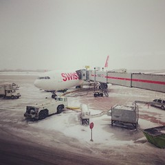 I will be entering the Neutral Zone. (Hub☺) Tags: 2017 canada quebec montreal dorval yul airplane airport snow swiss