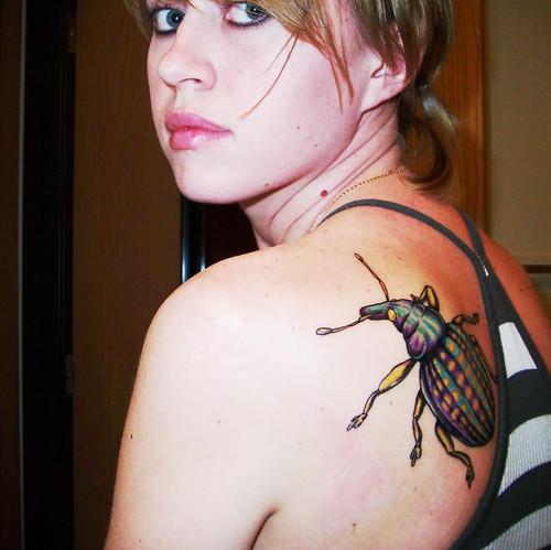 Insect tattoo. Tattoo