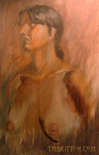 Nude figure painting