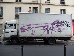 by ? (lepublicnme) Tags: dog streetart paris france penis graffiti may 2009 woostercollective ekosystem