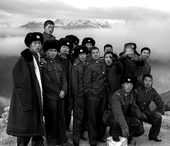 Meili snow mountain (mexadrian) Tags: china buddhist military chinese angry soldiers 6x7 yunnan plaubel makina dequin sacredmountain
