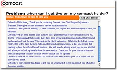 Comcast chat