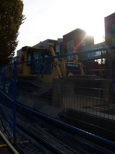 bulldozer in the sun