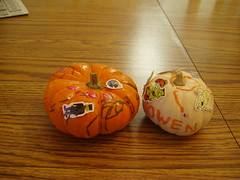 Pumpkins I decorated