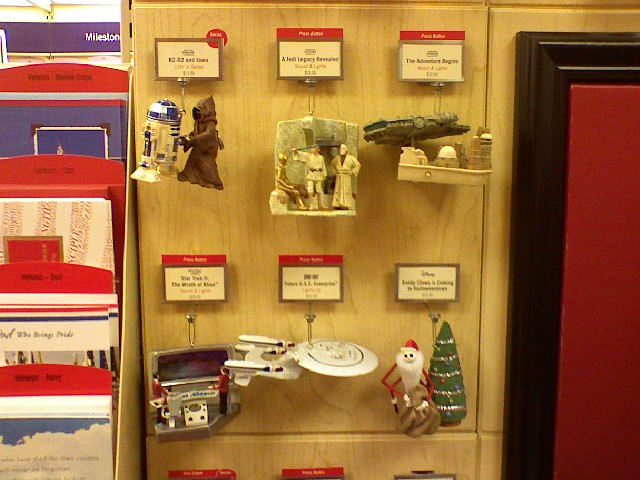 """Star Wars"" and ""Star Trek"" ornaments"