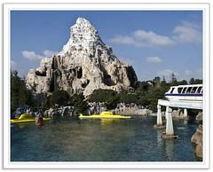 Disneyland Trifecta (wybnormal) Tags: classic photoshop nikon nemo disneyland matterhorn monorail submarines cs3 d80 18200m disneyphotochallenge disneyphotochallengewinner
