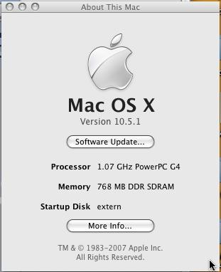 Mac OS X 10.5.1 Leopard
