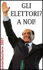 """Berlusconi: """"Gli elettori? A noi!"""