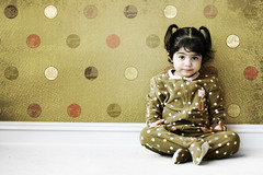 Polka dots (mylaphotography) Tags: brown texture wall paper polka pj sittingpretty polkadot rahi jaber fairytalephotography