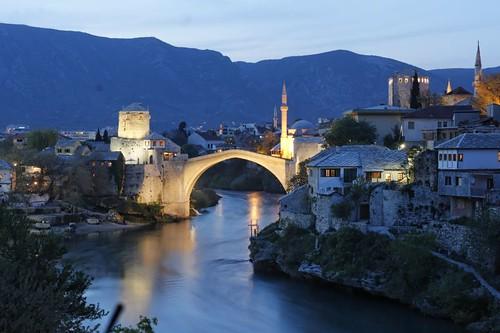 mostar köprüsü fotoğrafları bosna hersek