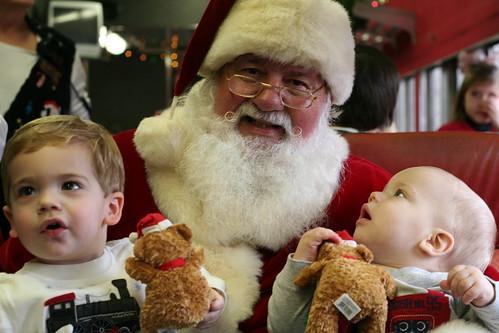 Walker, Eli and Santa