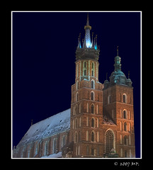 St Mary's Church in Cracow at Night (Mariusz Petelicki) Tags: church night poland polska krakw cracow hdr stmarys blueribbonwinner abigfave canon400d theperfectphotographer mariuszpetelicki