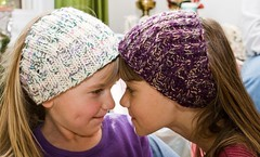 Calorimetry x2 (LollyKnit) Tags: christmas knitting knit presents nieces earwarmers stashbusting caliometry