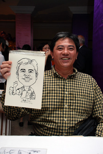 Caricature Singapore Swimming Club NYE 4