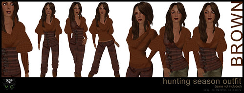 [MG fashion] Hunting Season Outfit - brown