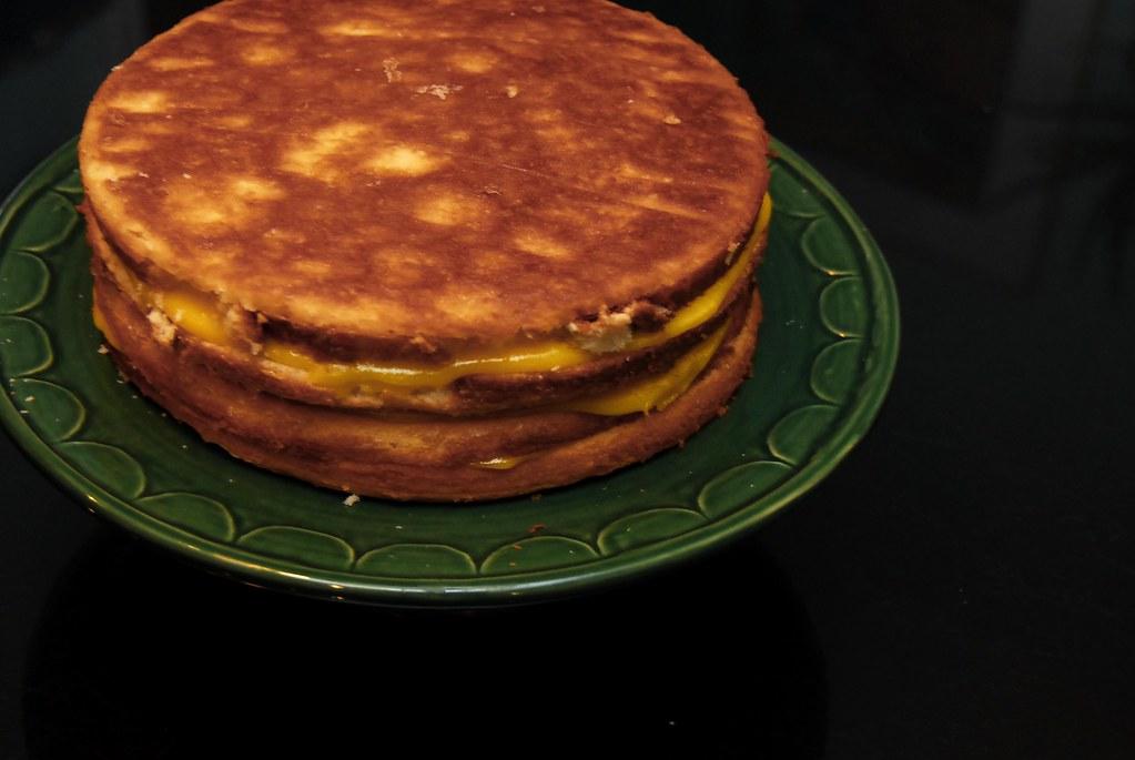 naked lemon layer cake